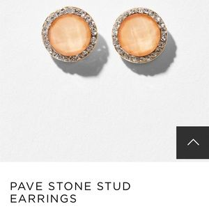 LOFT Pavé Stone Stud Earrings